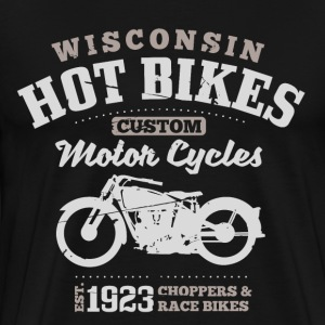 Wisconsin Hot Bikes Custom Motor Cycles T-Shirts - Men's Premium T-Shirt