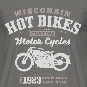 Wisconsin Hot Bikes  T-skjorter - T-skjorte for menn