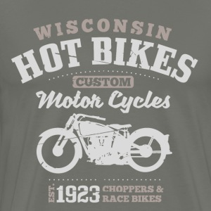 Wisconsin Hot Bikes Custom Motor Cycles T-Shirts - Maglietta Premium da uomo