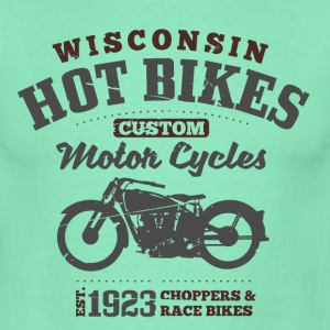 Wisconsin Hot Bikes Custom Motor Cycles T-Shirts - Men's T-Shirt