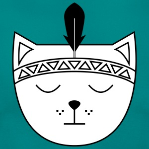 Cute Cat Icon | Feather T-shirts - Dame-T-shirt