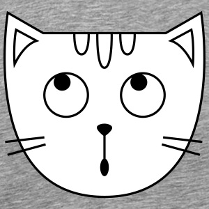 Cute Cat Icon Tee shirts - T-shirt Premium Homme