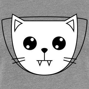 Cute Cat Icon | Vampire T-shirts - Dame premium T-shirt