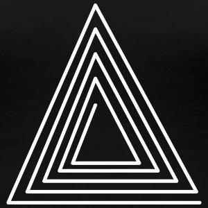 Hipster Triangle Tee shirts - T-shirt Premium Femme