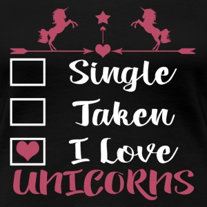 I LOVE UNICORNS T-Shirts - Frauen Premium T-Shirt