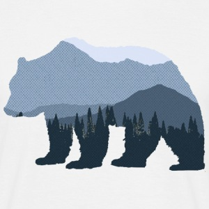 Mountain Forest Bear - Men's T-Shirt