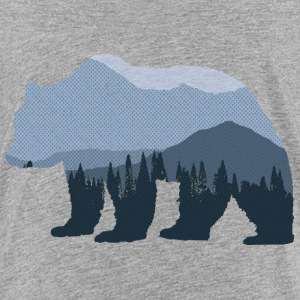 Mountain Forest Bear - Kids' Premium T-Shirt
