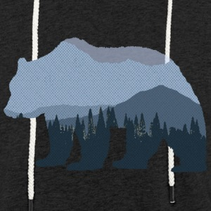Mountain Forest Bear - Light Unisex Sweatshirt Hoodie
