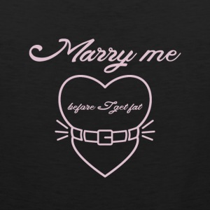 Marry me before I get fat Sports wear - Men's Premium Tank Top