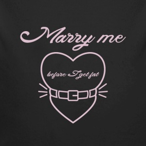 Marry me before I get fat Baby Bodysuits - Longlseeve Baby Bodysuit