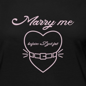 Marry me before I get fat Manga larga - Camiseta de manga larga premium mujer