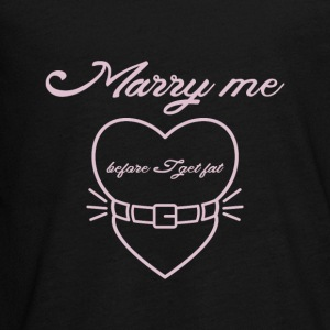 Marry me before I get fat Langærmede shirts - Teenager premium T-shirt med lange ærmer