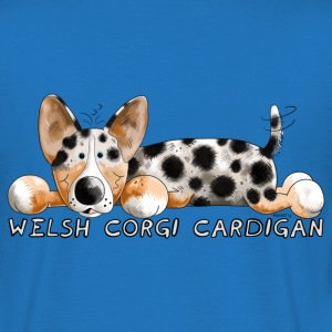 Welsh Corgi Cardigan T-shirts - Mannen T-shirt