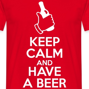 Keep calm and have a beer  - Maglietta da uomo