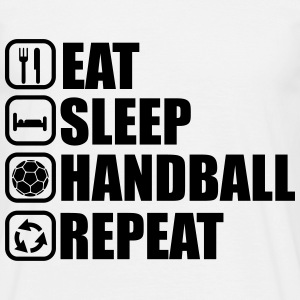 Eat,sleep,handball,repeat,  Hand t-shirt  - Herre-T-shirt