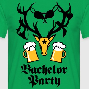 Hirsch Geweih Bachelor Party JGA Stag Groom Shirt - Männer T-Shirt