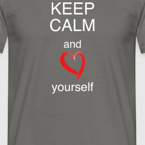 MännerShirt Keep calm and love yourself - Männer T-Shirt
