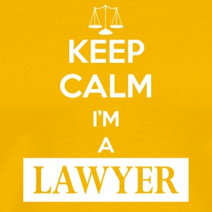 Keep calm I am a lawyer - Männer Premium T-Shirt