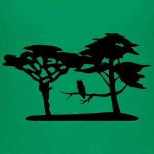 Nature, forest, owl Shirts - Teenage Premium T-Shirt