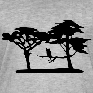 Nature, forest, owl T-Shirts - Men's Vintage T-Shirt