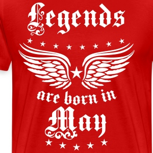 Legends born May Mai geboren Legenden T-Shirt - Männer Premium T-Shirt