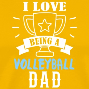 Volleyball dad - Männer Premium T-Shirt