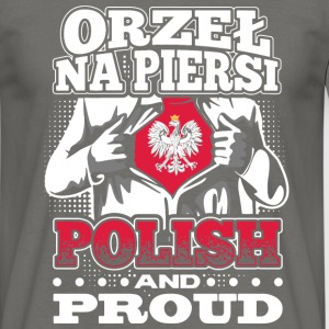 Orzeł na piersi - POLISH AND PROUD - Männer T-Shirt