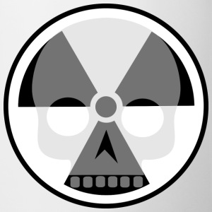 Nuclear sign and skull Mugs & Drinkware - Mug