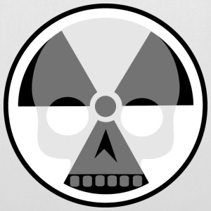 Nuclear sign and skull Bags & Backpacks - Tote Bag