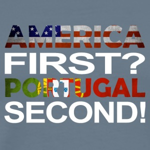 America first Portugal second - Männer Premium T-Shirt