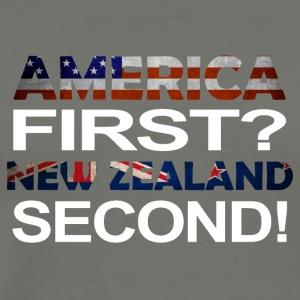 America first new zealand second - Männer Premium T-Shirt