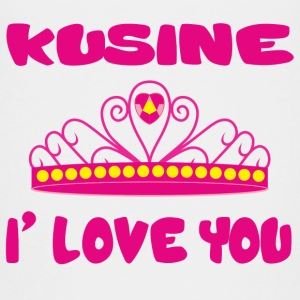 Kusine i love you T-Shirts - Teenager Premium T-Shirt