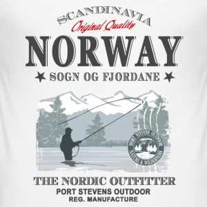 Norway Fishing T-Shirts - Männer Slim Fit T-Shirt