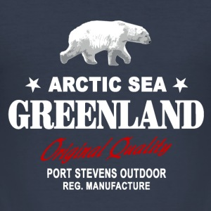 Greenland - Polar Bear - Grönland - Eisbär T-Shirts - Männer Slim Fit T-Shirt
