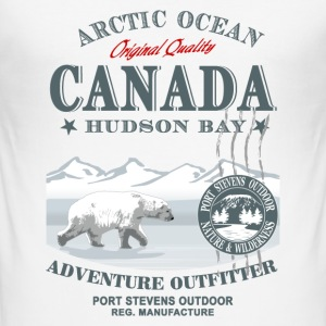 Polar Bear - Canada T-Shirts - Männer Slim Fit T-Shirt