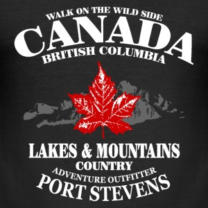 Canada - Maple Leaf & Mountain T-Shirts - Männer Slim Fit T-Shirt