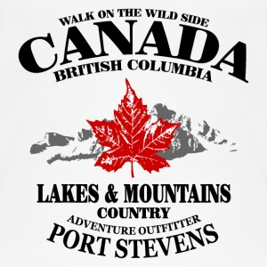 Canada - Maple Leaf & Mountain Tops - Frauen Bio Tank Top