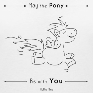 May the pony be with you - T-shirt col V Femme
