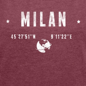 Milan T-Shirts - Women's T-shirt with rolled up sleeves