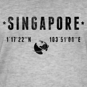 Singapour Tee shirts - T-shirt vintage Homme