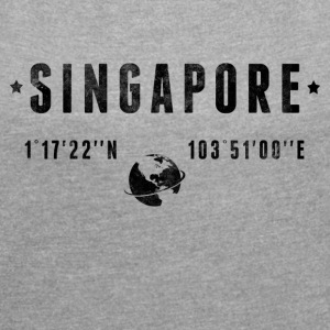 Singapour T-Shirts - Women's T-shirt with rolled up sleeves