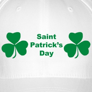 Saint Patrick's Day with two shamrocks  - Flexfit Baseball Cap
