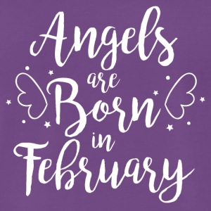 Angels are born in February - Männer Premium T-Shirt