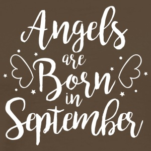Angels are born in September - Männer Premium T-Shirt