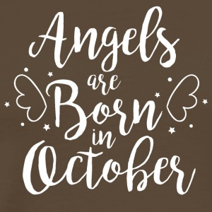Angels are born in October - Männer Premium T-Shirt