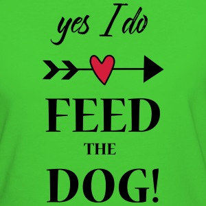 feed the dog T-Shirts - Frauen Bio-T-Shirt
