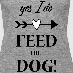 feed the dog Tops - Frauen Premium Tank Top