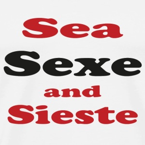 Sea sieste and sun Tee shirts - T-shirt Premium Homme