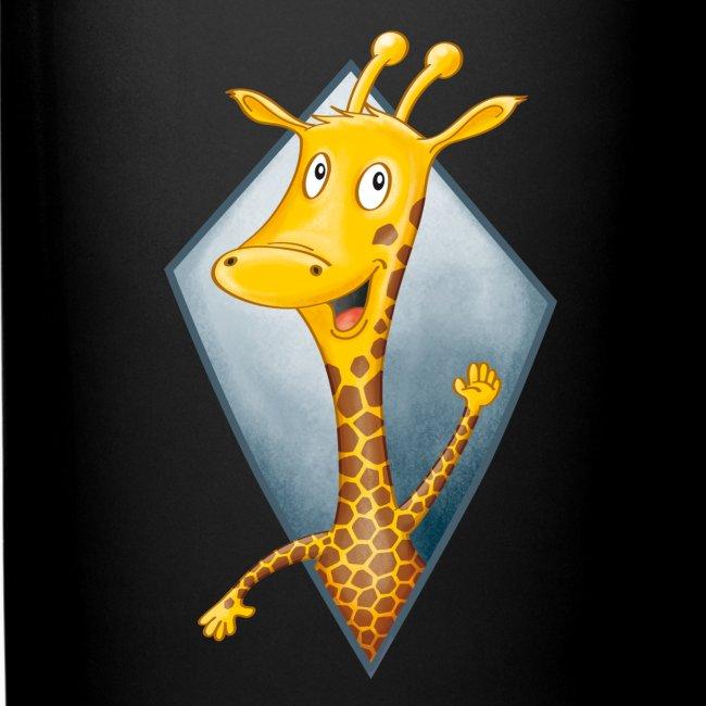 crazy Giraffe - Tasse farbig