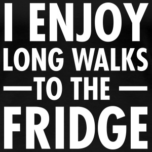 I Enjoy Long Walks To The Fridge T-shirts - Vrouwen Premium T-shirt
